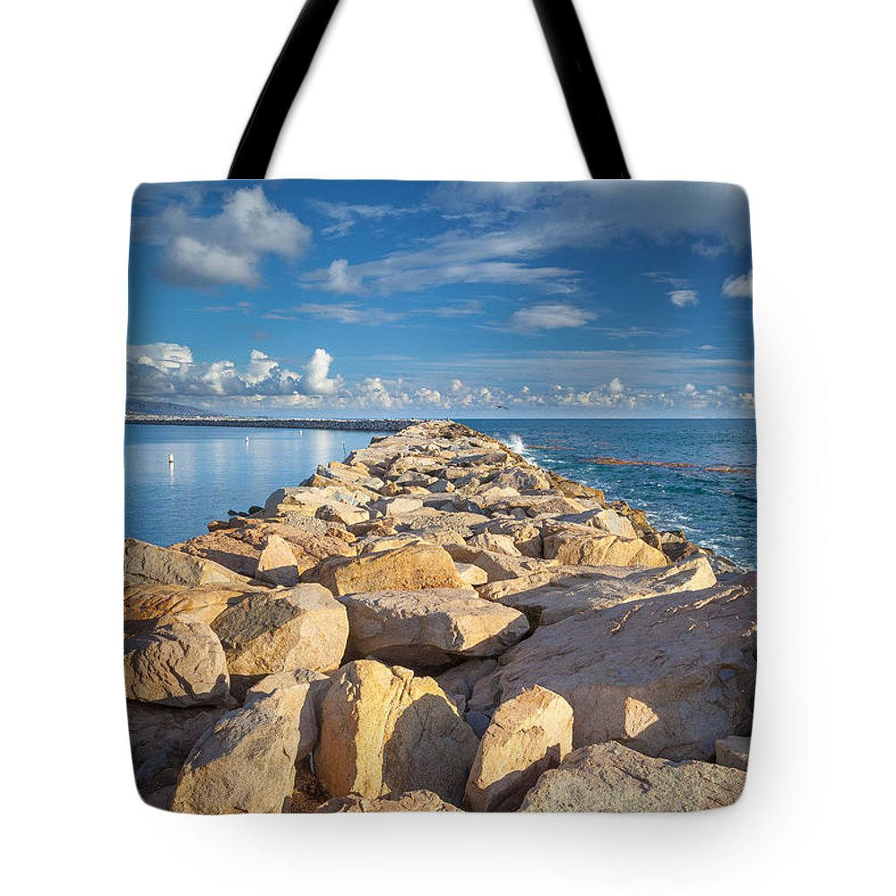 Dana Tote Bag featuring the photograph Dana Point Jetty by Rick Seymour