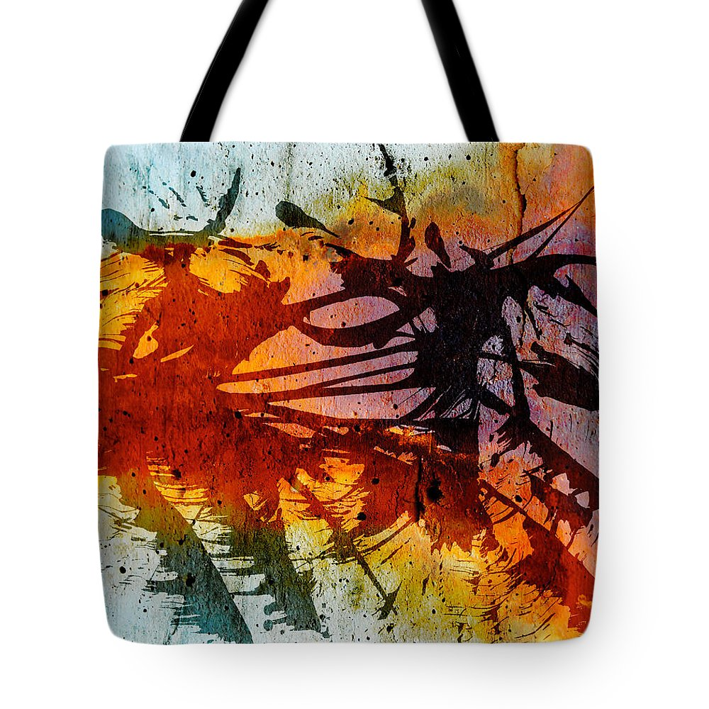 Abstract Art Street Art Tote Bag featuring the photograph Dance Of Colours by The Artist Project