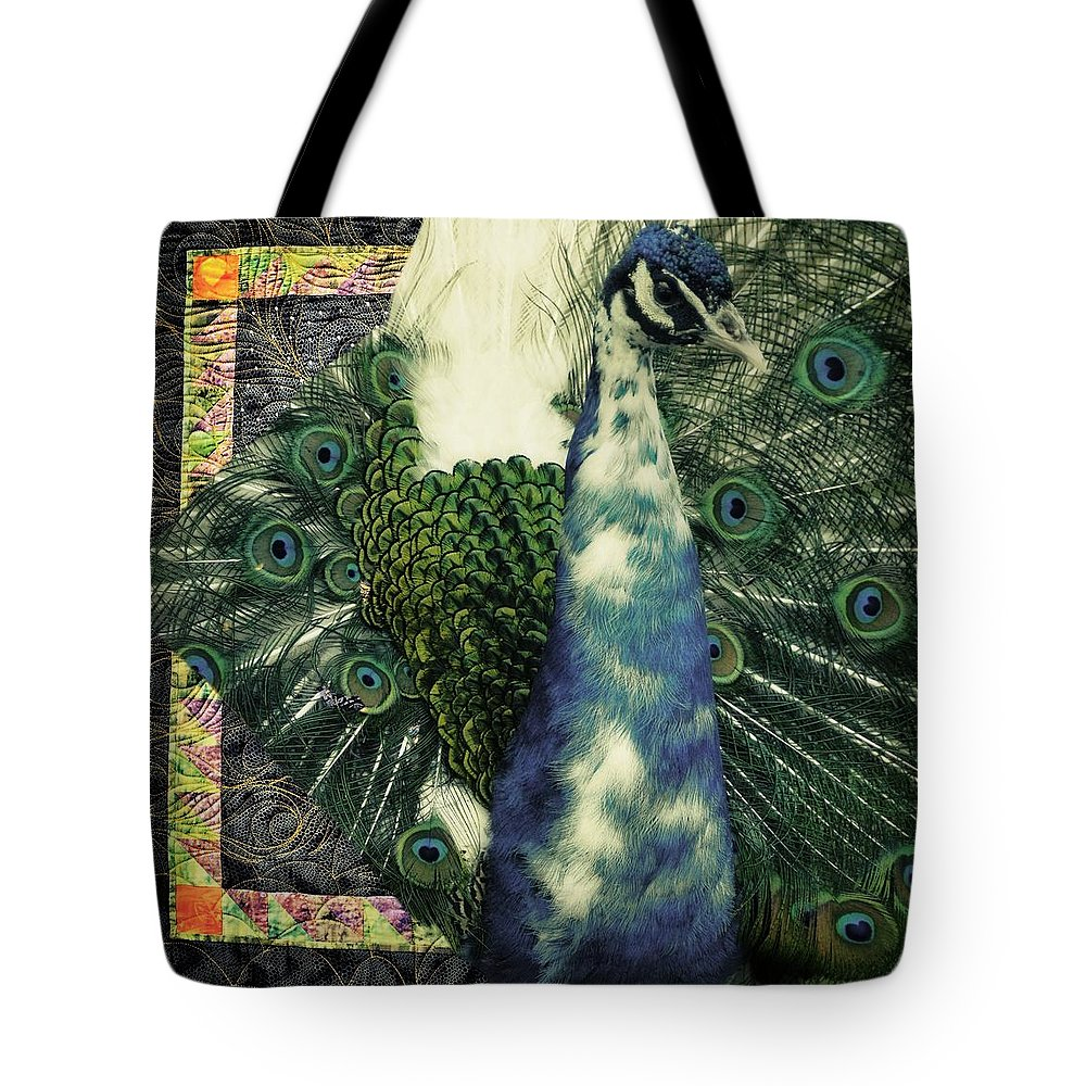 Idaho Falls Tote Bag featuring the photograph Dance Of The Peacock by Image Takers Photography LLC - Carol Haddon