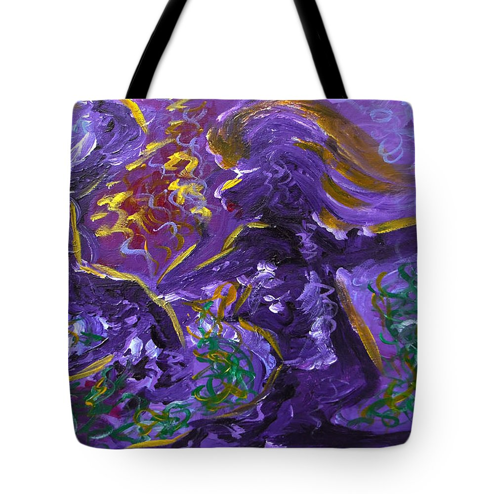 Shadow Tote Bag featuring the painting Dance Of The Sugar Plum Fairies by Donna Blackhall