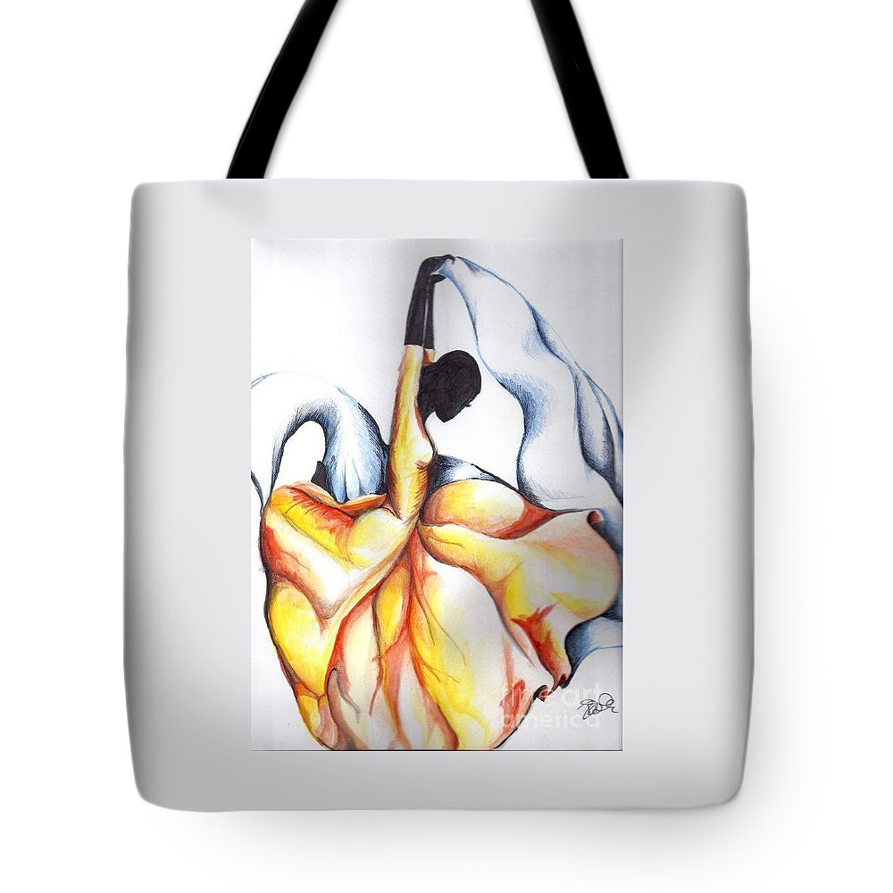 Dancer Tote Bag featuring the painting Just Dance by Rhonda Falls