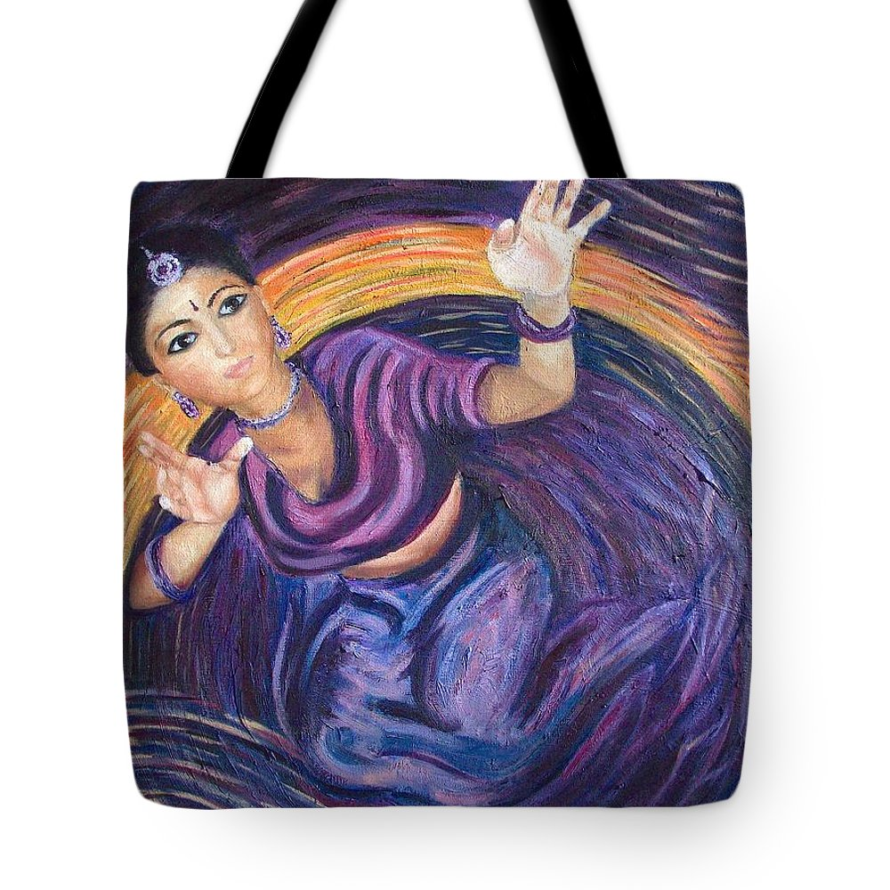 Dance Tote Bag featuring the painting Dancer by Mila Kronik