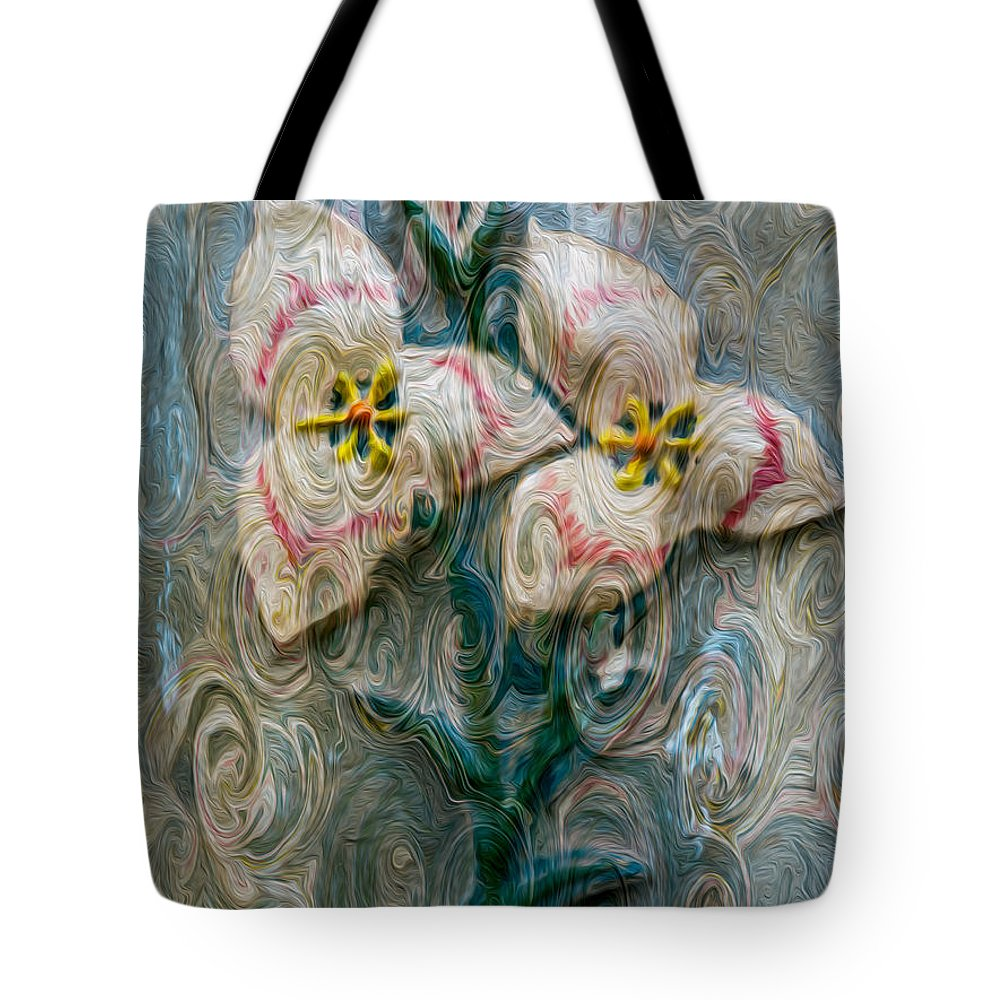 North Cascades Tote Bag featuring the painting Dances With Flowers by Omaste Witkowski