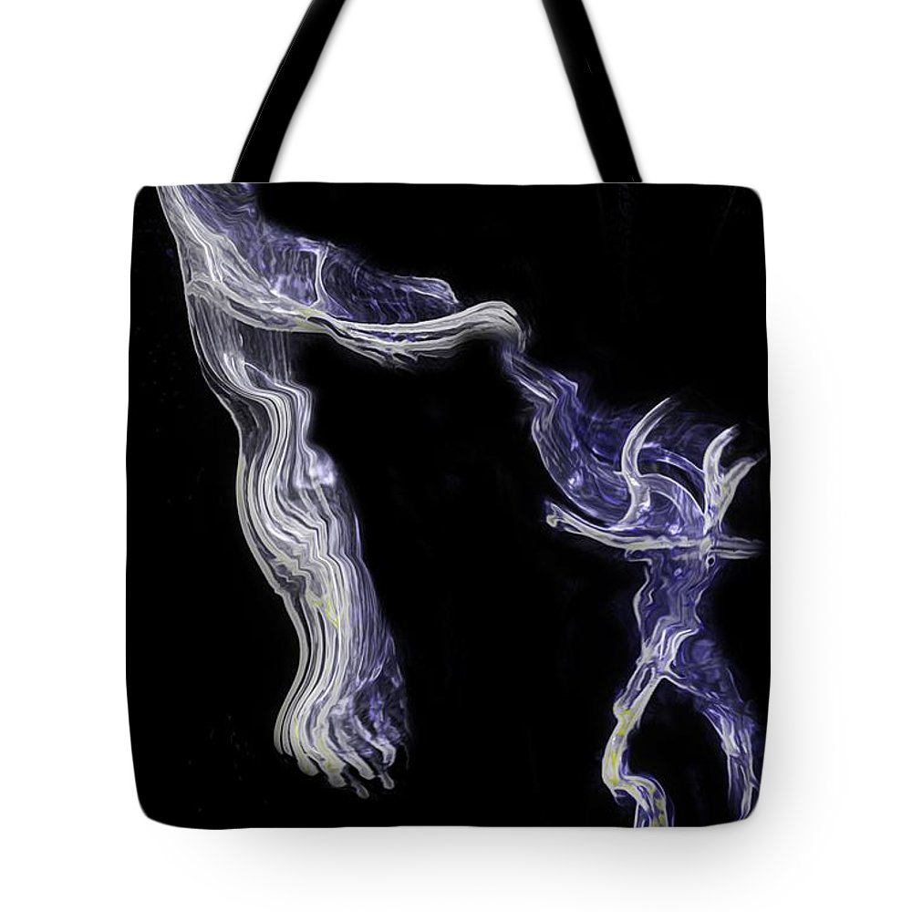Dance Tote Bag featuring the digital art Dancin' Fools by RC DeWinter
