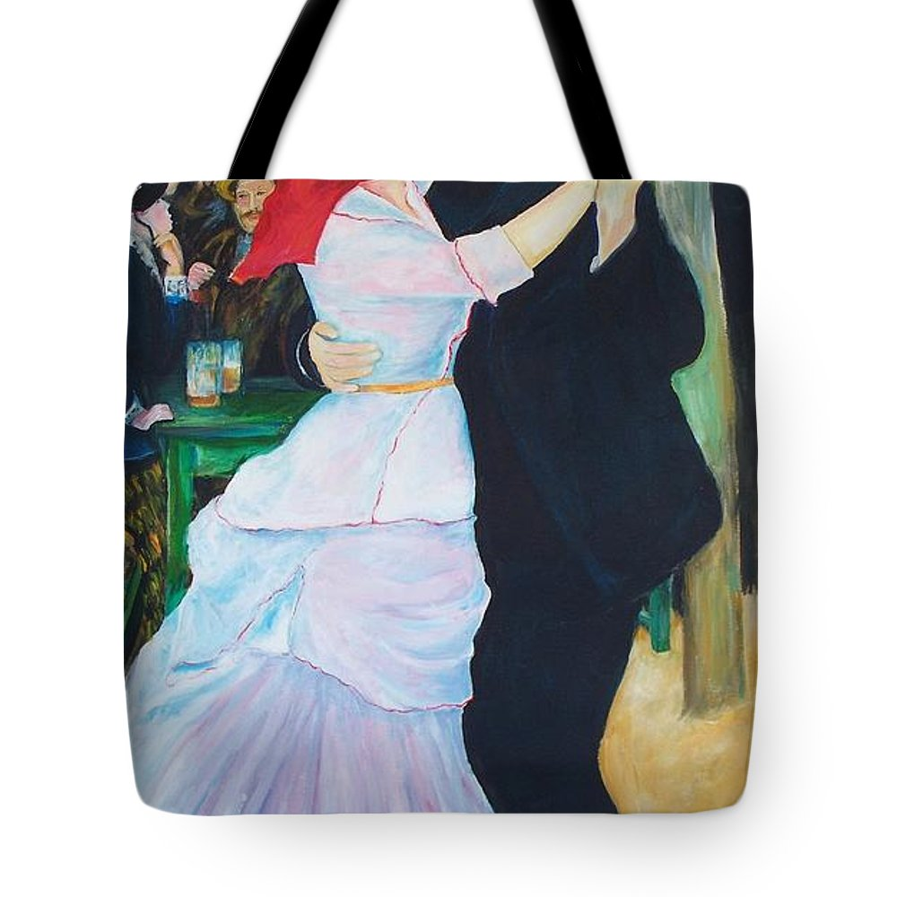 Dancing Painting Tote Bag featuring the painting Dancing Couple by Eric Schiabor