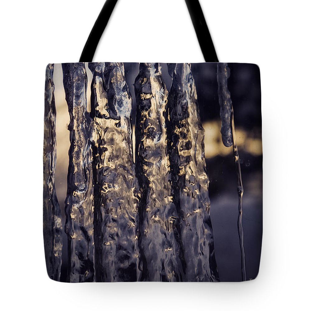 Icicle Tote Bag featuring the photograph Dancing Fractured Light by Jo-Anne Gazo-McKim