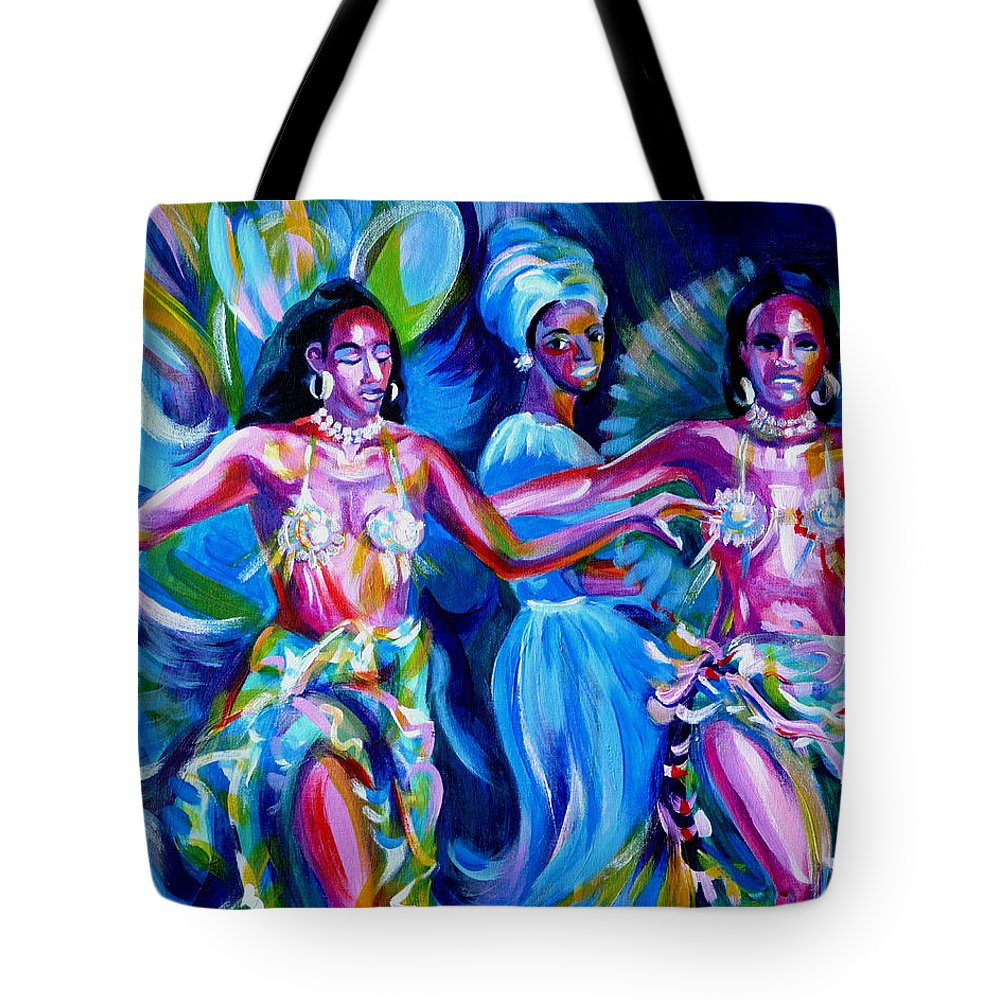 Music Tote Bag featuring the painting Dancing Panama by Anna Duyunova