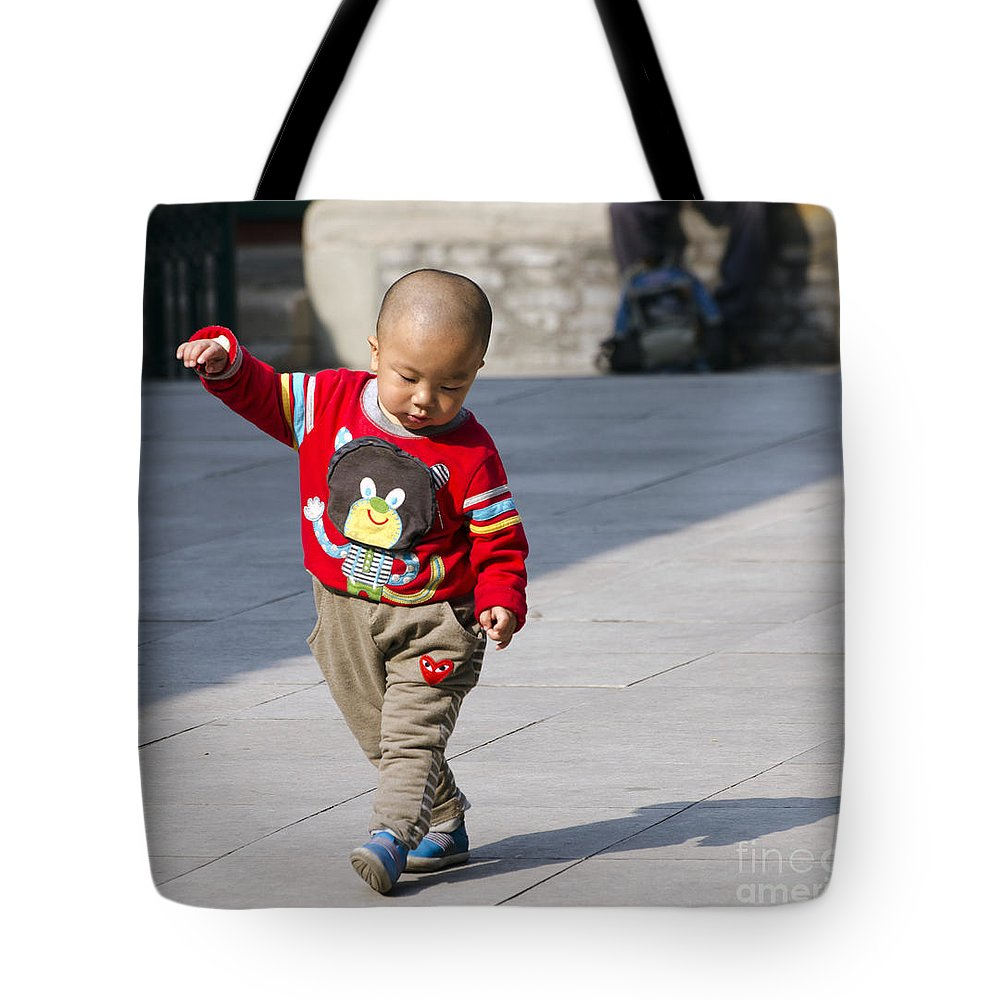 Niujie Mosque Tote Bag featuring the photograph Dancing by Terri Winkler