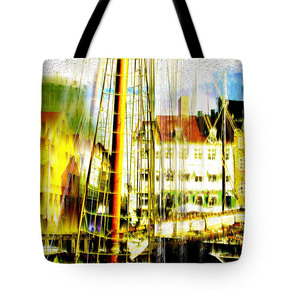 Cityscape Tote Bag featuring the photograph Danish Harbor by Seth Weaver