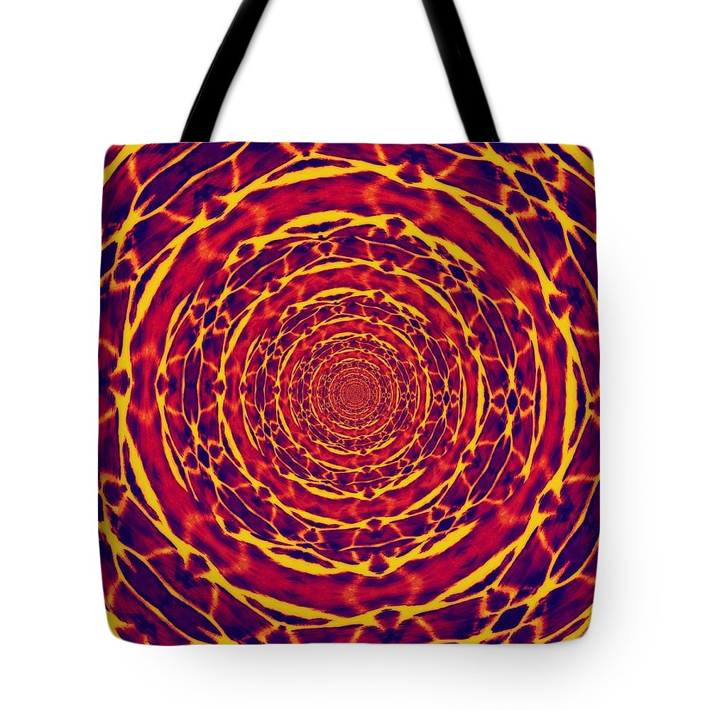 Abstract Tote Bag featuring the photograph Dante's Ladder by Lisa Brandel