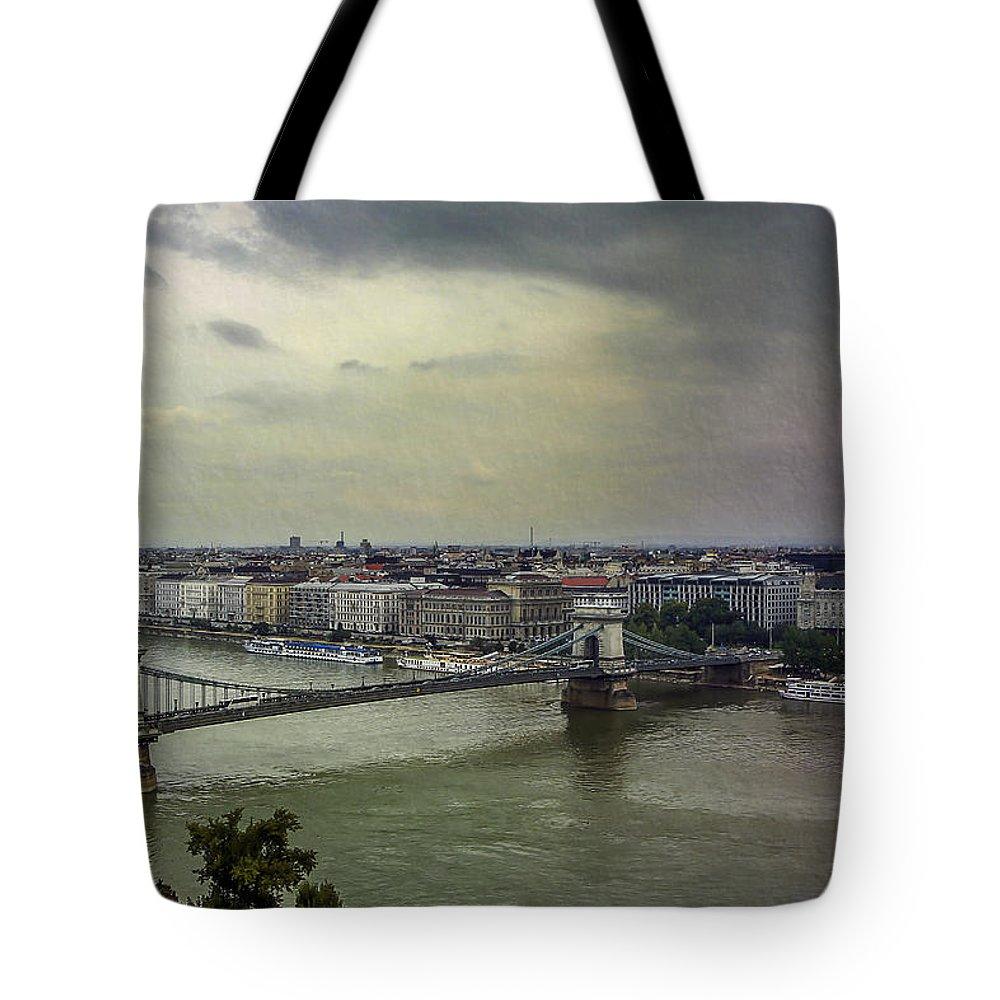 Danube Tote Bag featuring the photograph Danube River by Alfio Finocchiaro