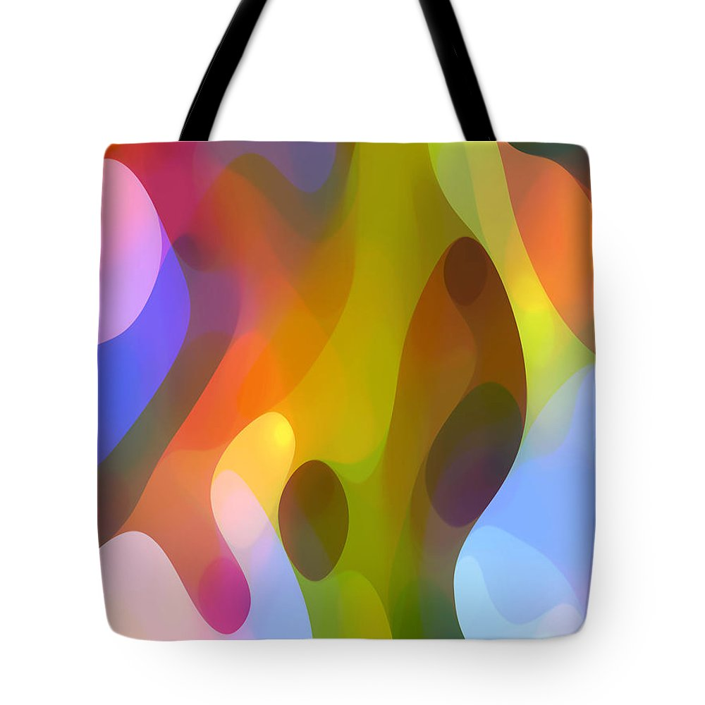 Abstract Art Tote Bag featuring the painting Dappled Art 8 by Amy Vangsgard