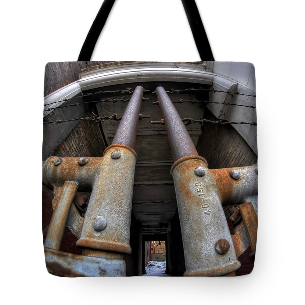 Architecture Tote Bag featuring the photograph Dare You Enter... by Michael Frank Jr