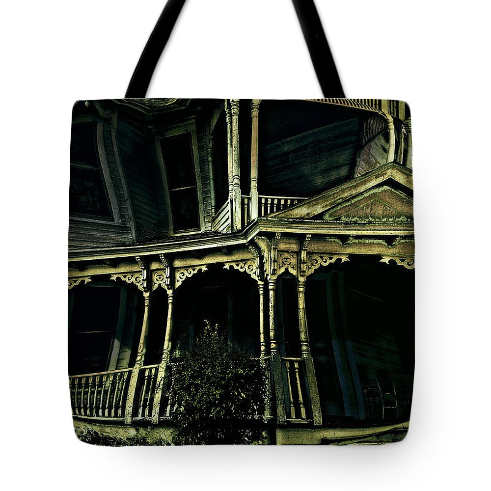 Dark Tote Bag featuring the photograph Dark House by John Anderson