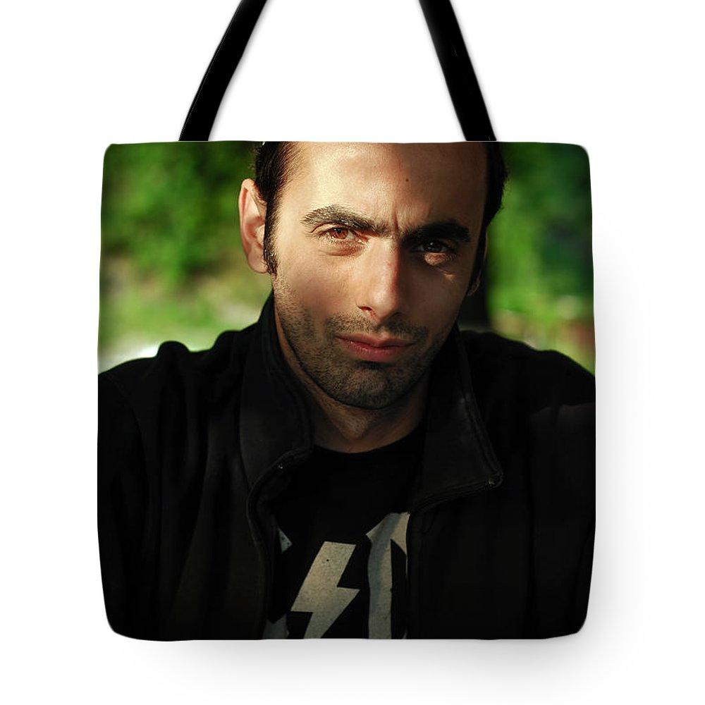 Caucasian Tote Bag featuring the photograph Dark Portrait by Cristian M Vela