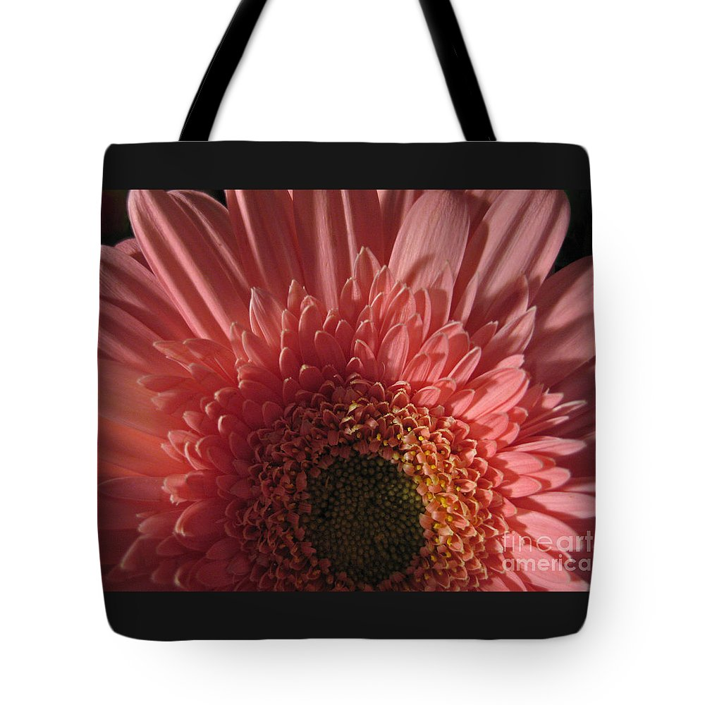 Flower Tote Bag featuring the photograph Dark Radiance by Ann Horn