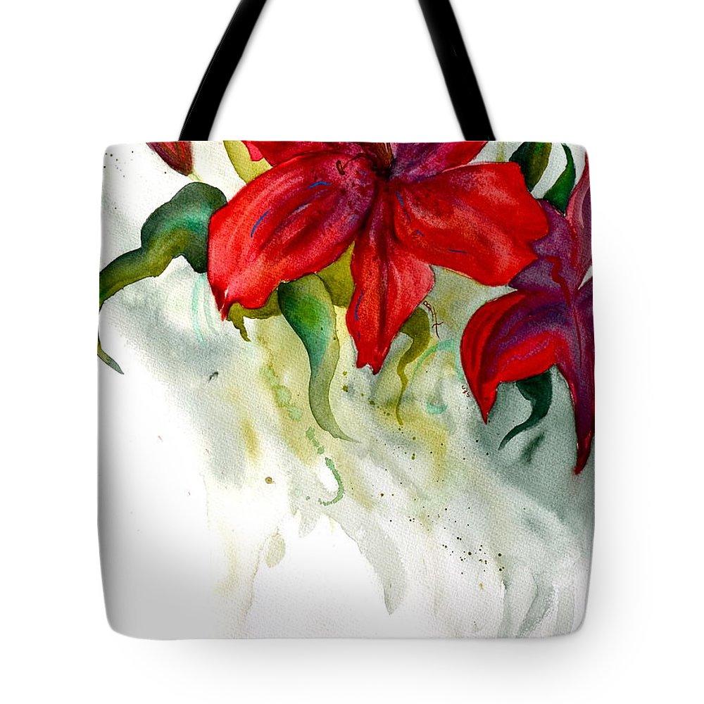 Dark Stars Tote Bag featuring the painting Dark Stars by Beverley Harper Tinsley