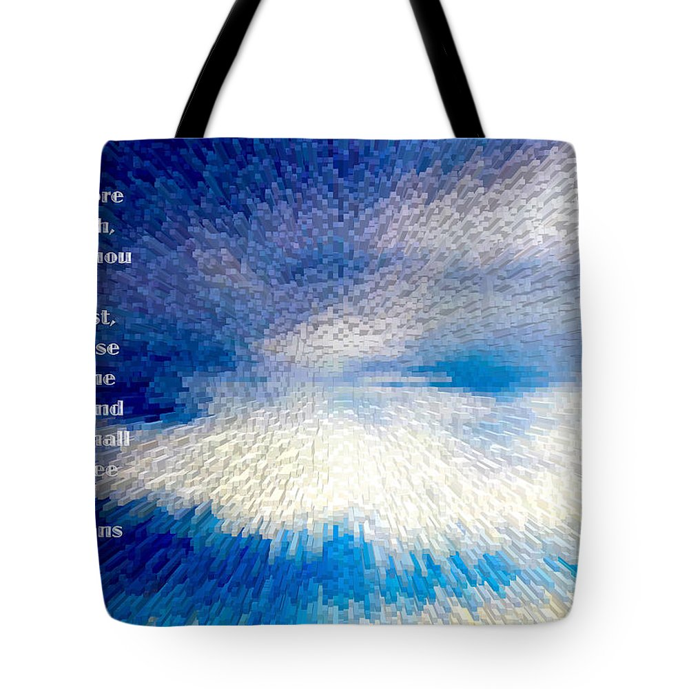 #scripture Art Tote Bag featuring the photograph Dark To Light by Debbie Nobile