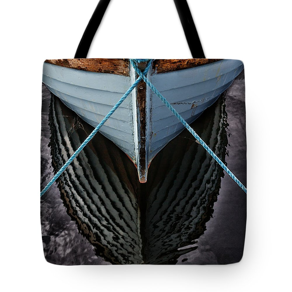 Bay Tote Bag featuring the photograph Dark Waters by Stelios Kleanthous