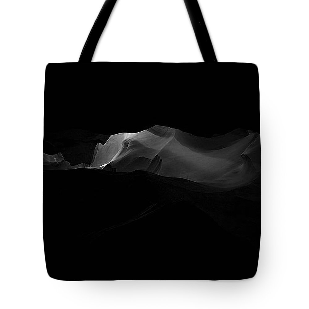 Abstract Tote Bag featuring the photograph Darkness by Ingrid Smith-Johnsen