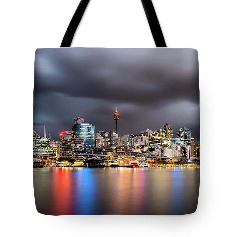 Outdoors Tote Bag featuring the photograph Darling Harbour, Sydney - Australia by Atomiczen