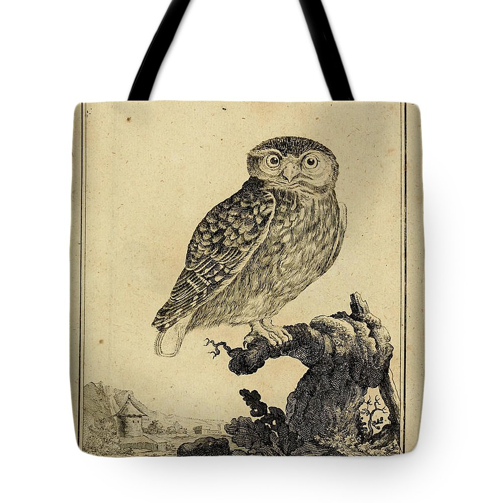 Owl Tote Bag featuring the drawing Das Kautzgen by Philip Ralley