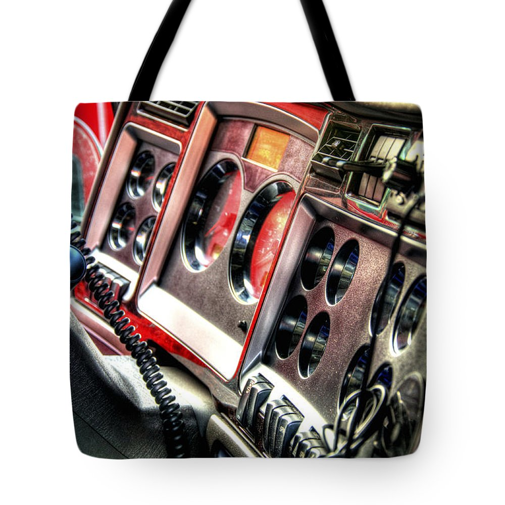 Ship Tote Bag featuring the photograph Dashboard 34639 by Jerry Sodorff