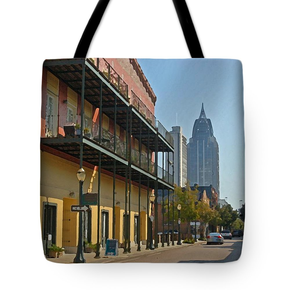 Mobile Tote Bag featuring the digital art Dauphin Street by Michael Thomas