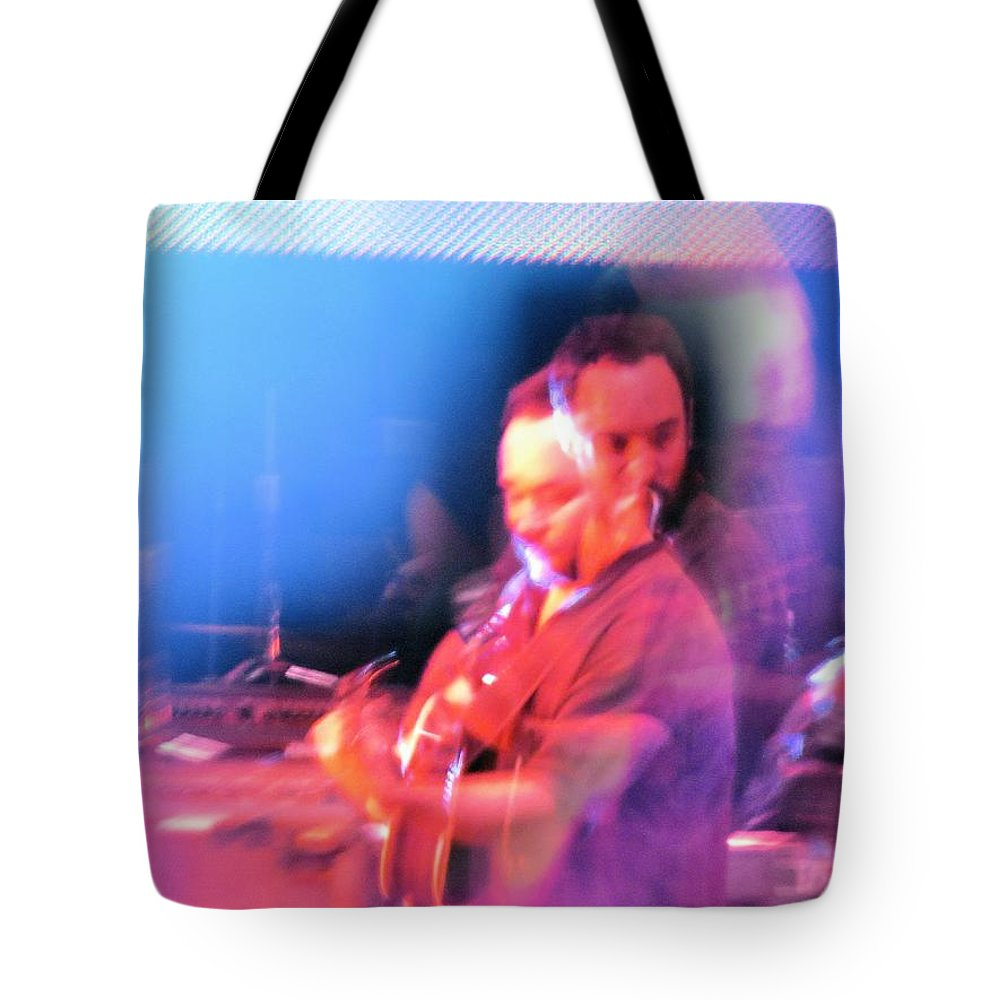 Abstract Tote Bag featuring the photograph Dave Matthews Crazy Photo2 by Aaron Martens