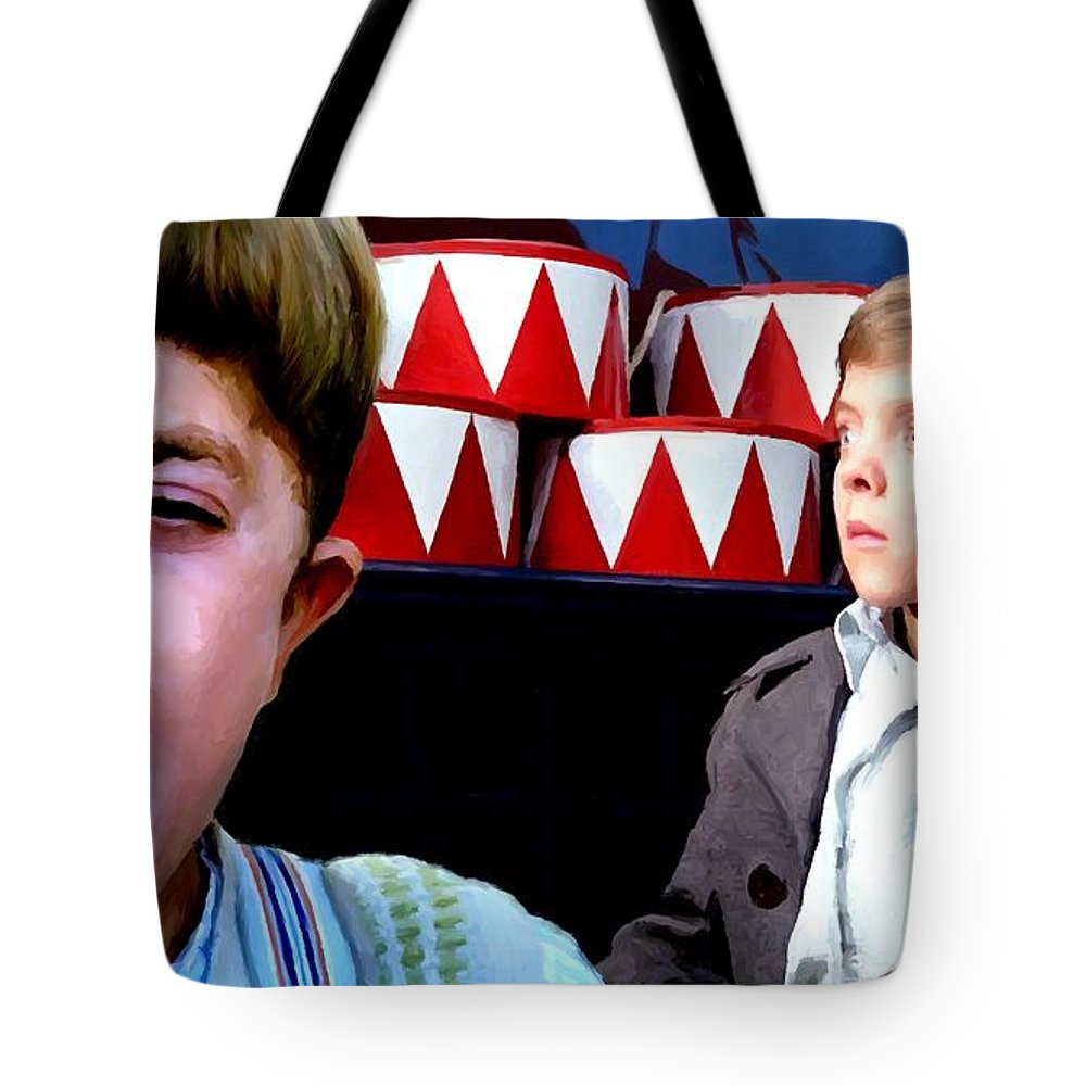 David Bennent Tote Bag featuring the digital art David Bennent in the film The Tin Drum by Gabriel T Toro
