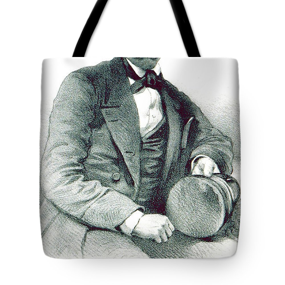 History Tote Bag featuring the photograph David Livingstone, Scottish Explorer by British Library