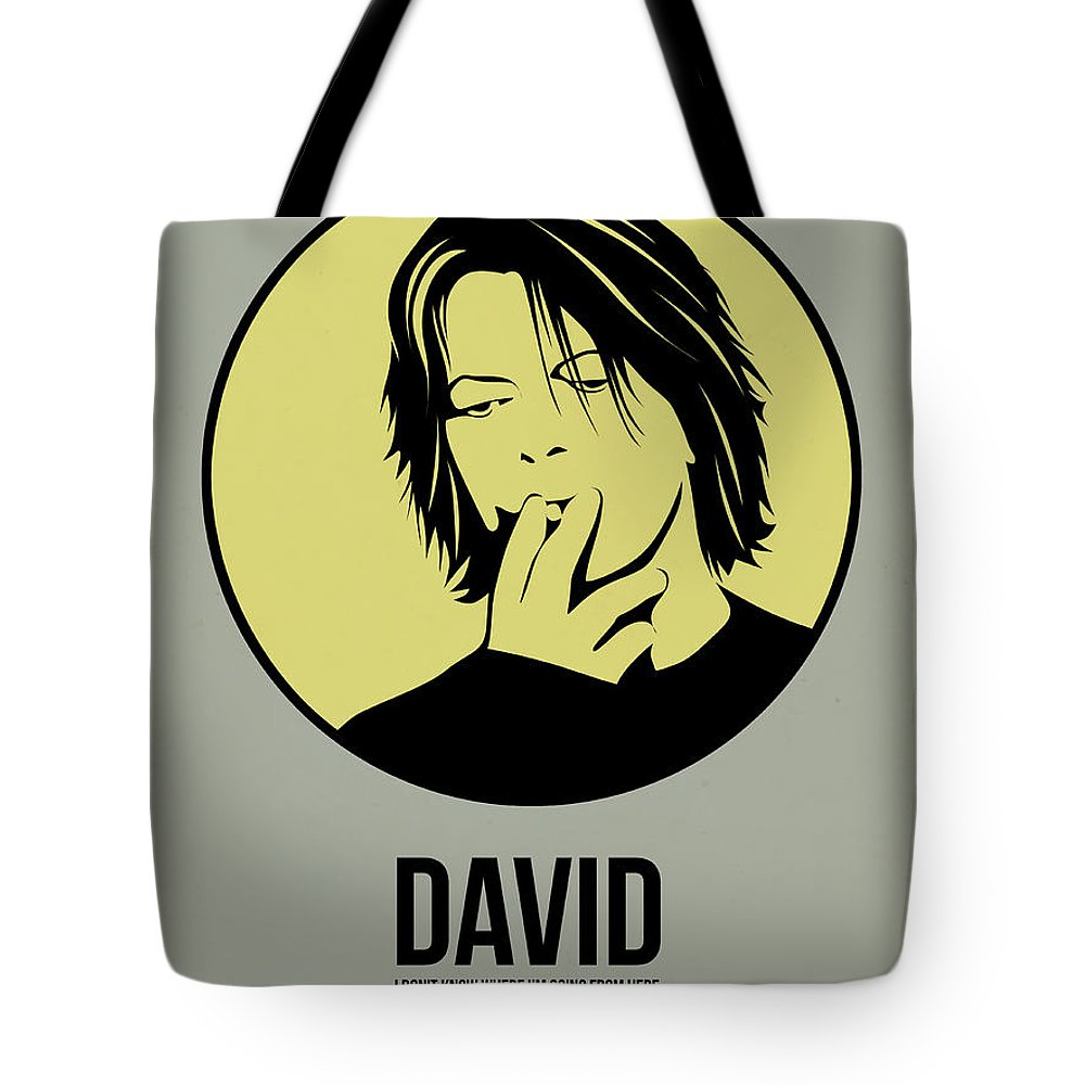 Music Tote Bag featuring the digital art David Poster 4 by Naxart Studio