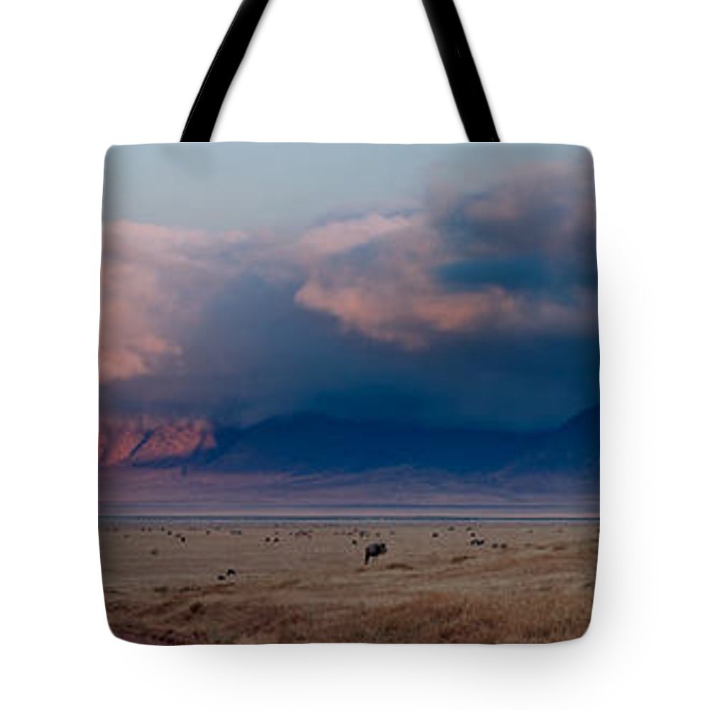 3scape Tote Bag featuring the photograph Dawn In Ngorongoro Crater by Adam Romanowicz