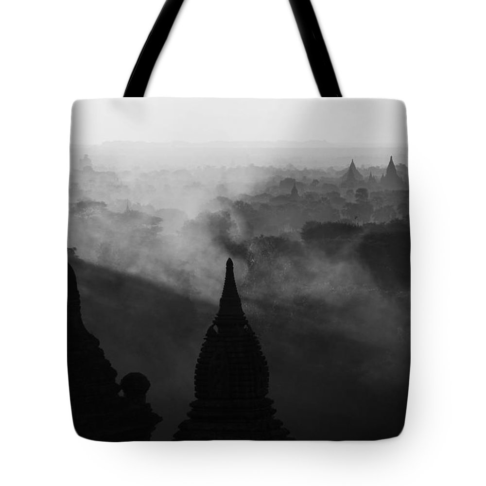 Bagan Tote Bag featuring the photograph Dawn by Jason KS Leung