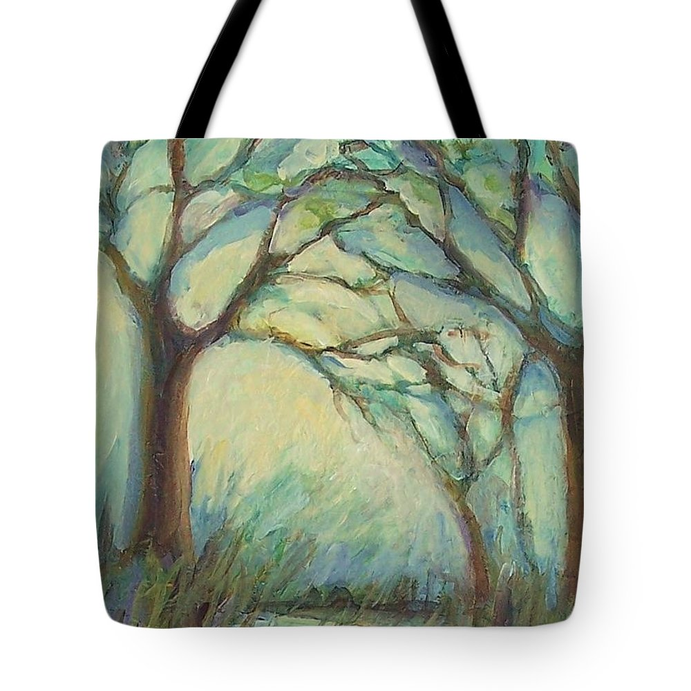 Impressionism Tote Bag featuring the painting Dawn by Mary Wolf