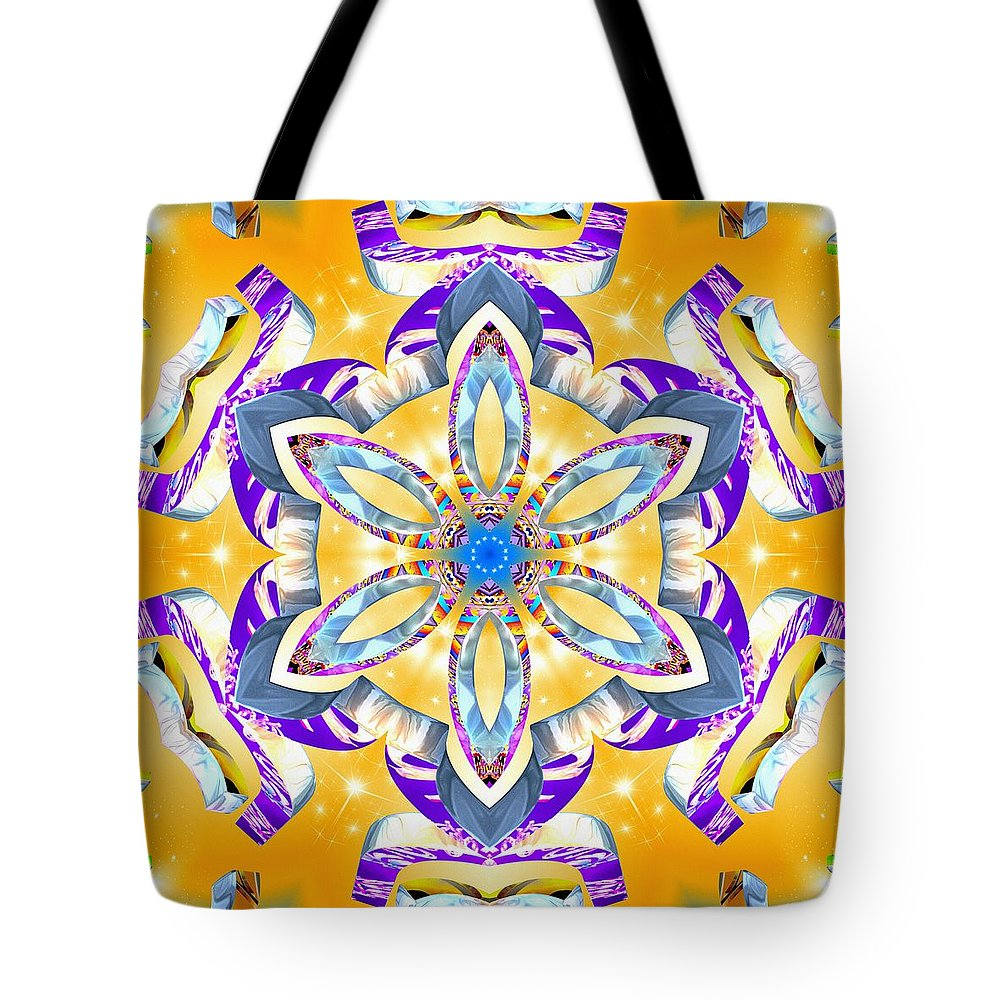 Dawning Reality Tote Bag featuring the digital art Dawning Reality by Derek Gedney