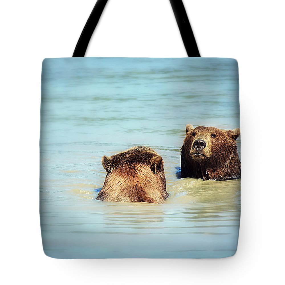 Bear Tote Bag featuring the photograph Day At The Spa by Melanie Lankford Photography