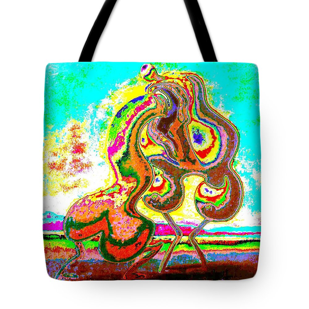 Genio Tote Bag featuring the mixed media Daylight Desire by Genio GgXpress