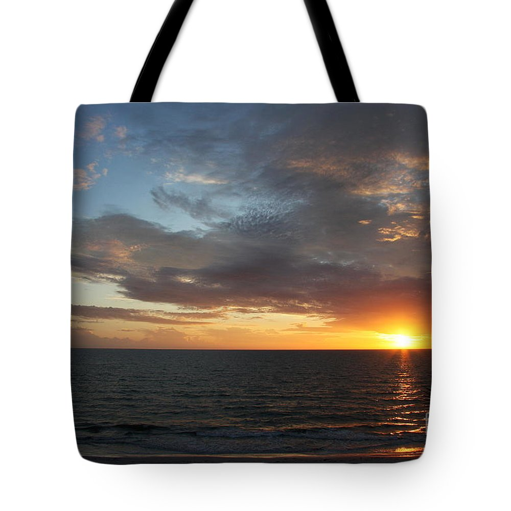 Sunset Tote Bag featuring the photograph Days End Beauty by Christiane Schulze Art And Photography