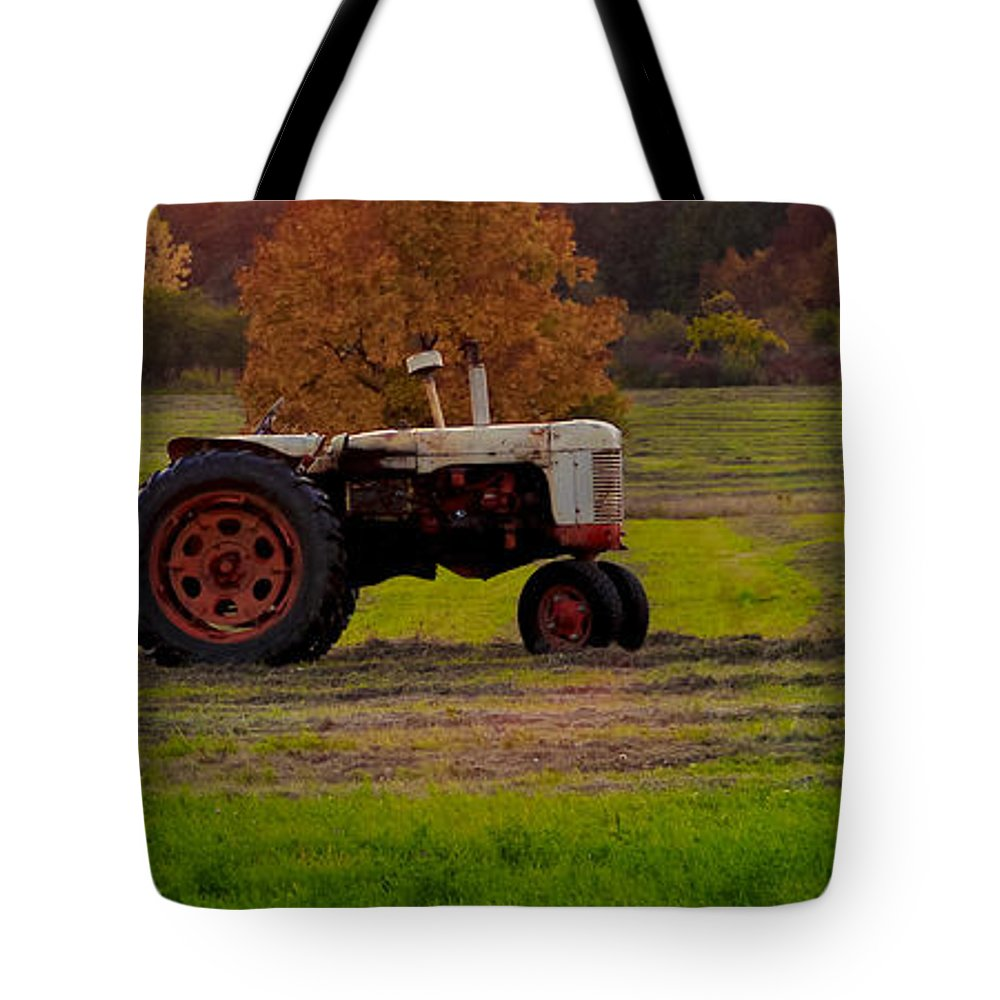 Landscape Tote Bag featuring the photograph Day's End by Becky Bunting