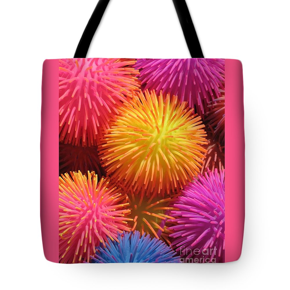Abstract Tote Bag featuring the photograph Dazzlers by Ann Horn