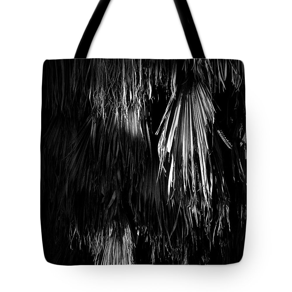 Black Tote Bag featuring the photograph Dead Fronds by Phil Penne
