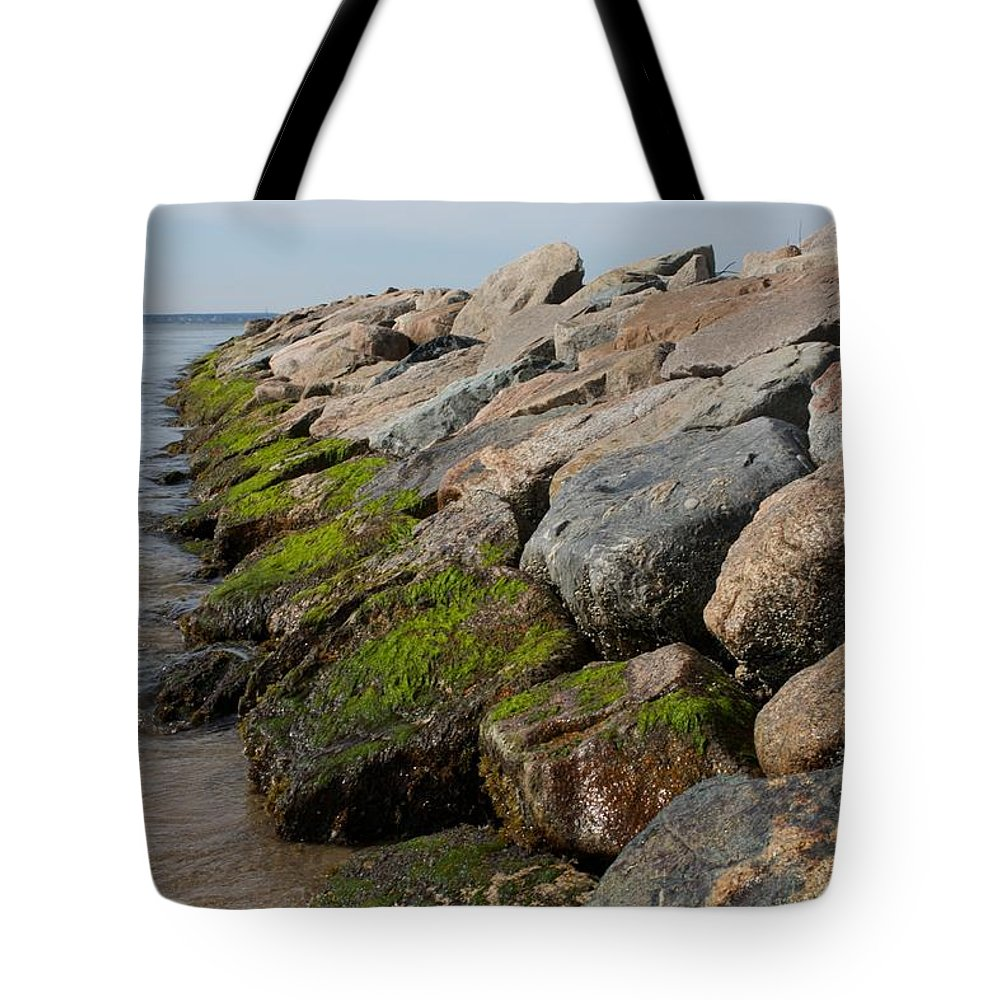 Mashpee Tote Bag featuring the photograph Dead Neck Jetty by Allan Morrison