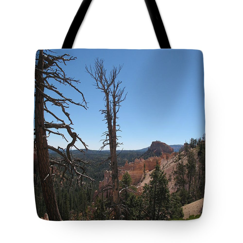 Bryce Canyon Tote Bag featuring the photograph Dead Trees At Bryce Canyon by Christiane Schulze Art And Photography