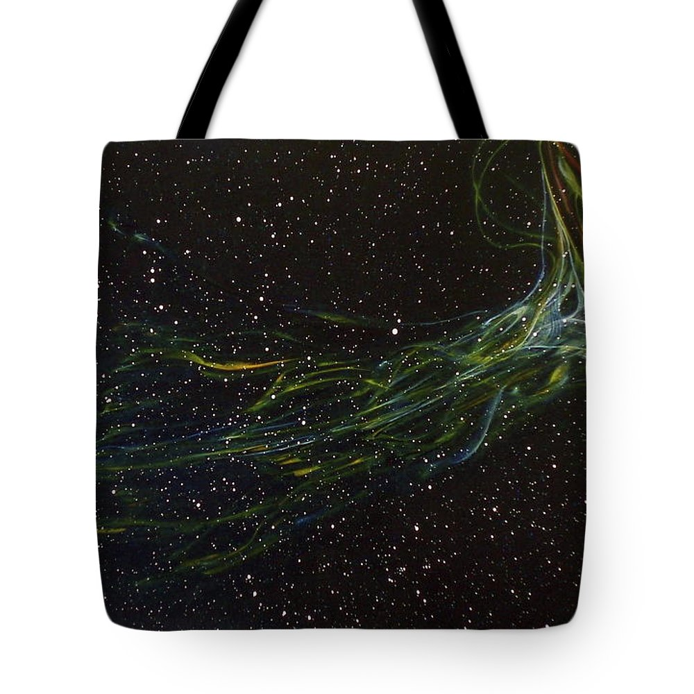 Abstract Tote Bag featuring the painting Death Throes by Sean Connolly