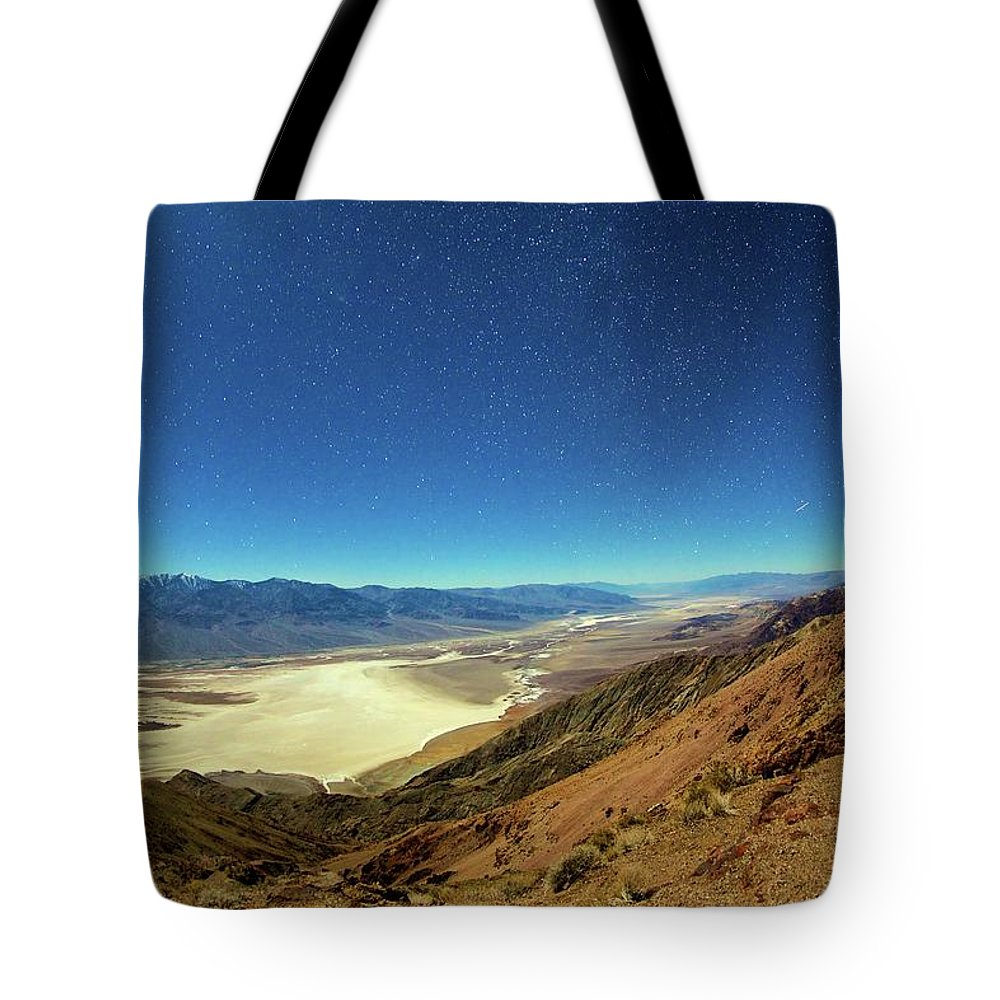 Tranquility Tote Bag featuring the photograph Death Valley By Moonlight by Kirk Lougheed