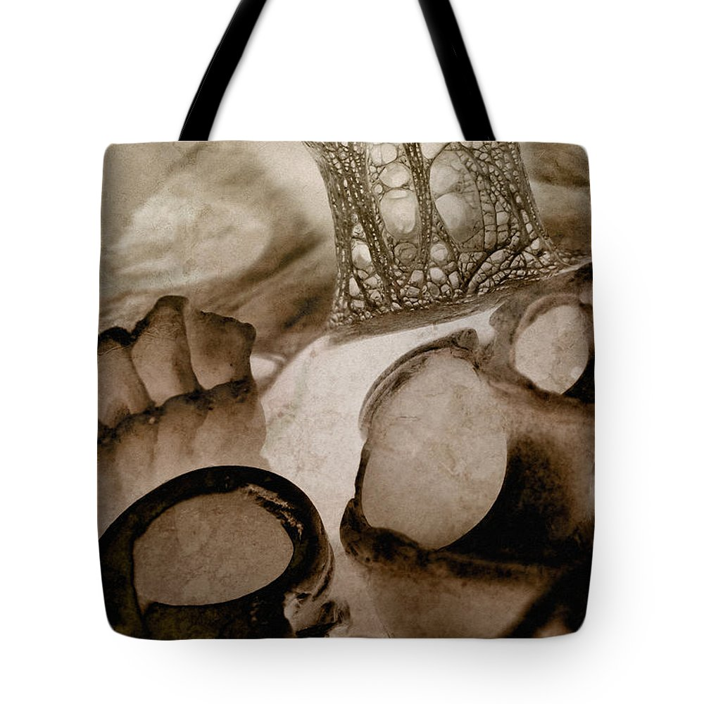 Shell Tote Bag featuring the photograph Debris 10 by WB Johnston