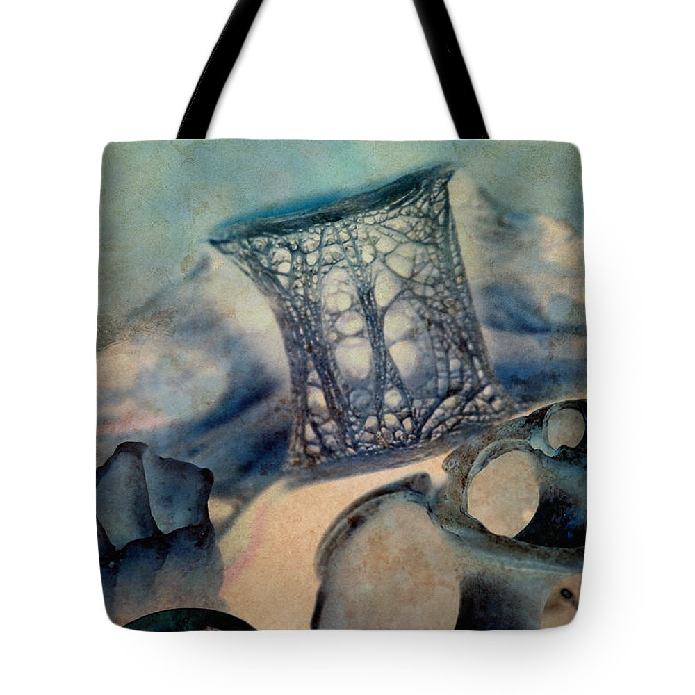 Shell Tote Bag featuring the photograph Debris 9 by WB Johnston