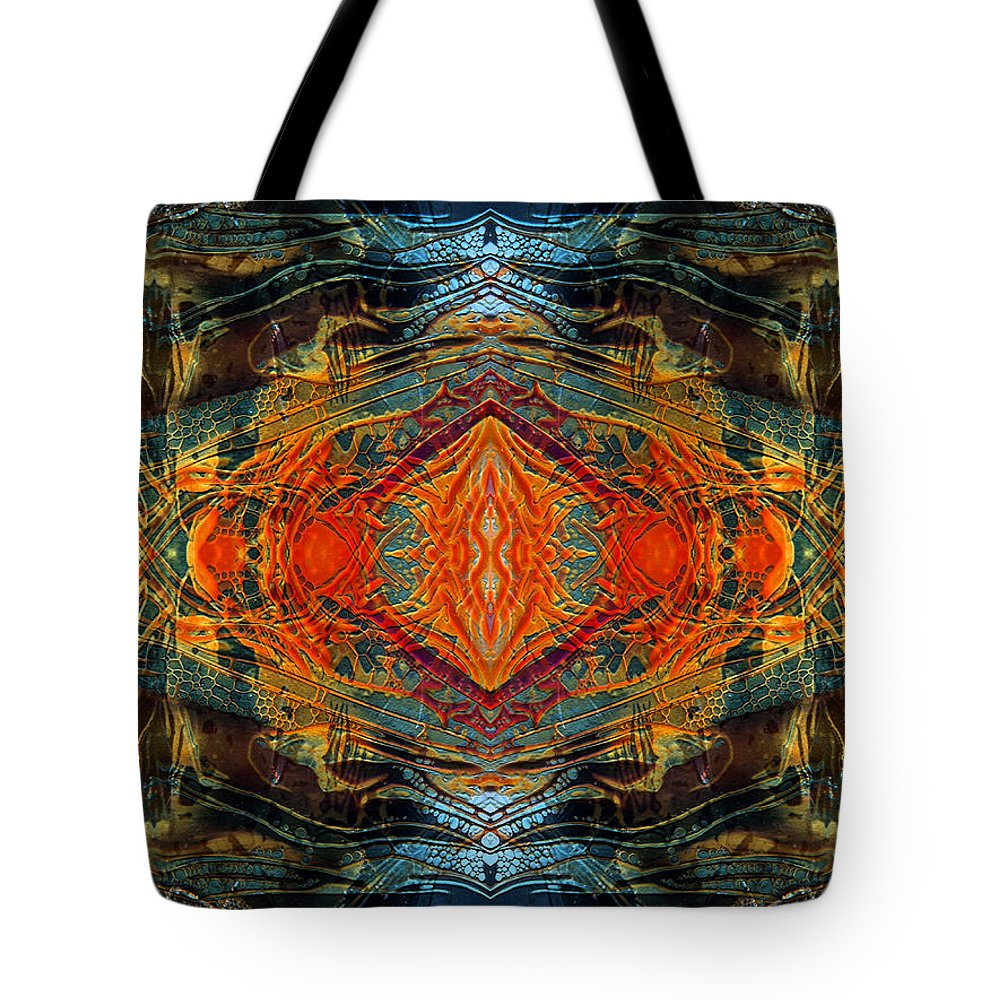 Surrealism Tote Bag featuring the digital art Decalcomaniac Intersection 2 by Otto Rapp