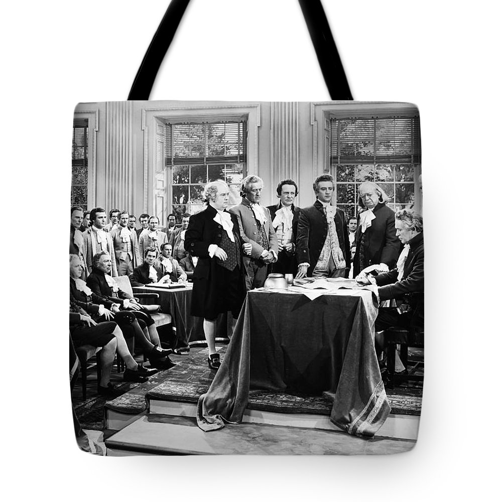 -fashion: Hist. Costumes- Tote Bag featuring the photograph Declaration Of Independece by Granger